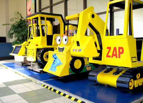 Kiddie Ride Platform – Construction Zone