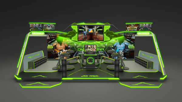 Omni Arena 5 Player Set up Virtual Reality Game